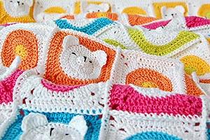 Crochet Teddy Bear Baby Blanket