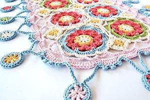 Gypsy queen crochet scarf tylecraft yarn