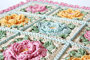 Japanese crochet flowers