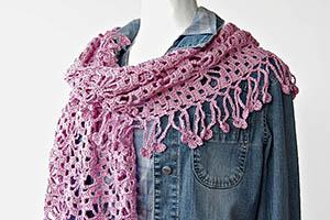 Japanese Lacy Crochet Shawl