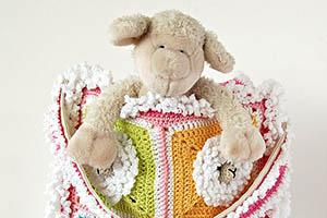 Little Sheep Crochet Tote Bag