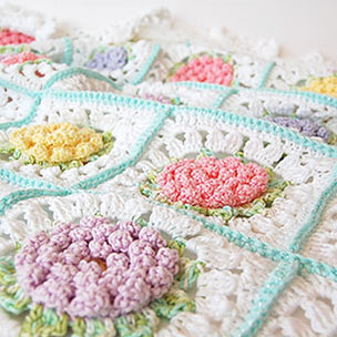 Victorian Flower Baby Blanket
