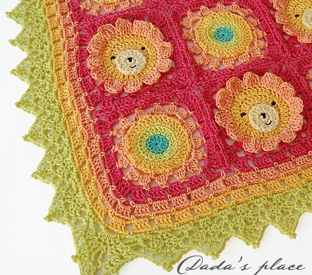 Animal granny square blanket pattern
