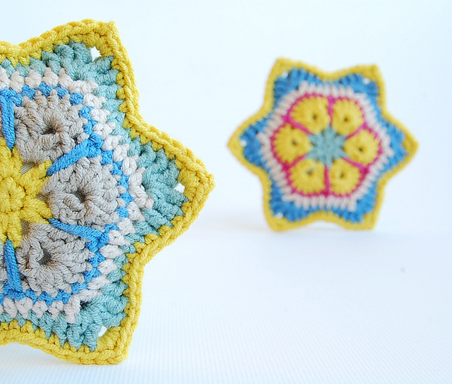 Beautiful african flower crochet stars