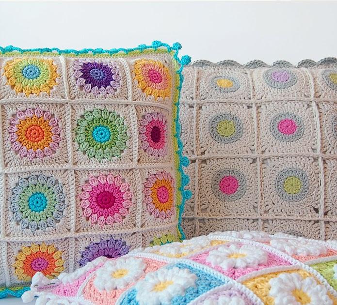 Beautiful crochet cushions free pattern