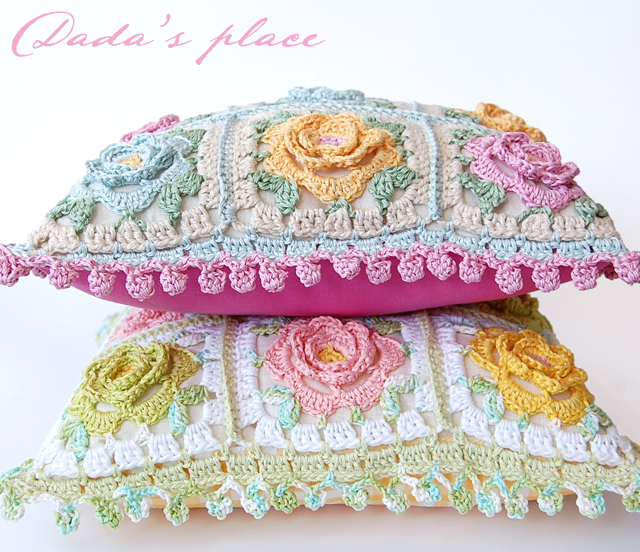 Beautiful crochet cushions