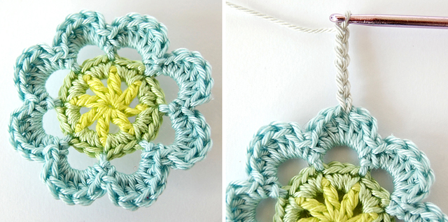 Beautiful crochet flower free tutorial