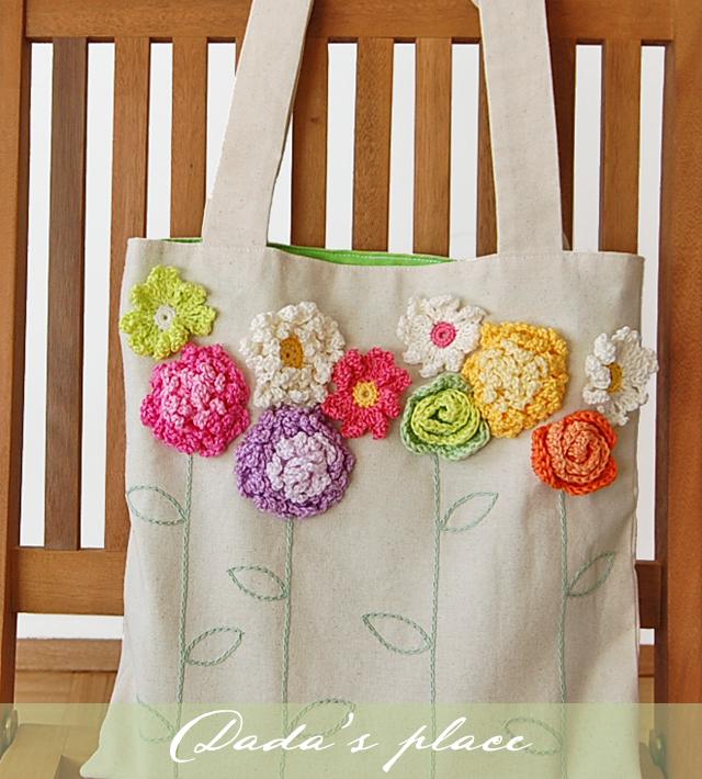 Beautiful crochet flowers pattern