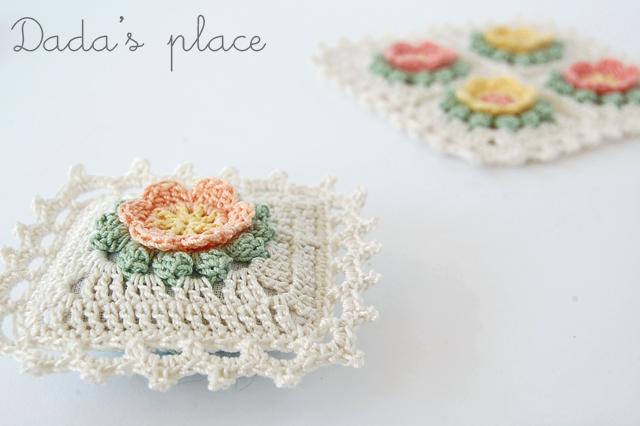 Beautiful crochet lavender sachets