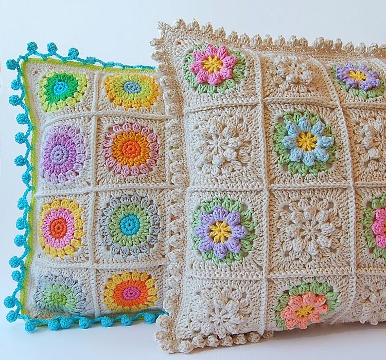 Beautiful crochet pillows free pattern