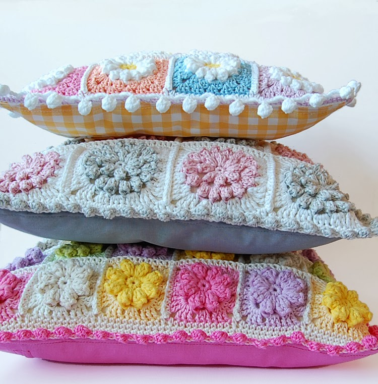 Beautiful granny square pillows
