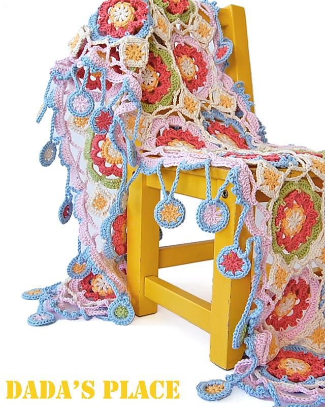 Beautiful gypsy queen crochet scarf