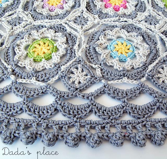 Colorful crochet poncho