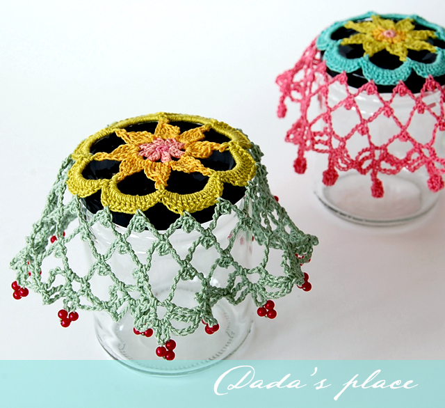 Colorful doilies