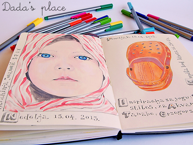 Colorful illustrated journal