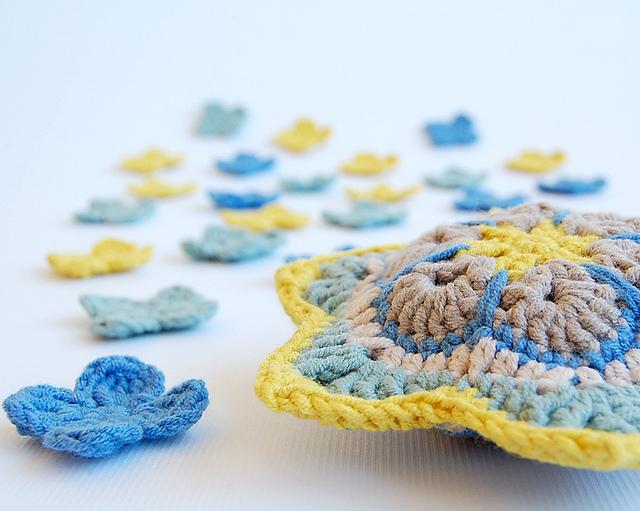 Crochet african stars free pattern