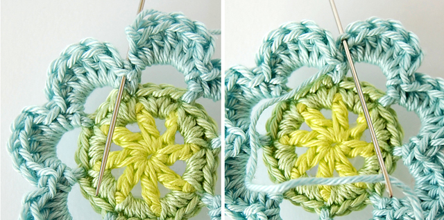 Crochet flower free pattern and step by step tutorial