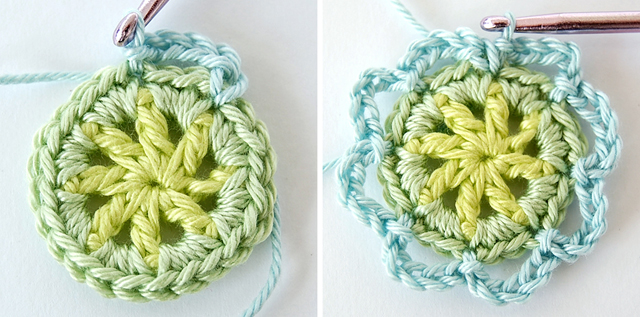 Crochet flower free step by step photo tutorial