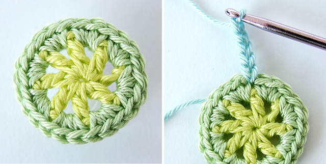 Crochet flower free step by step tutorial