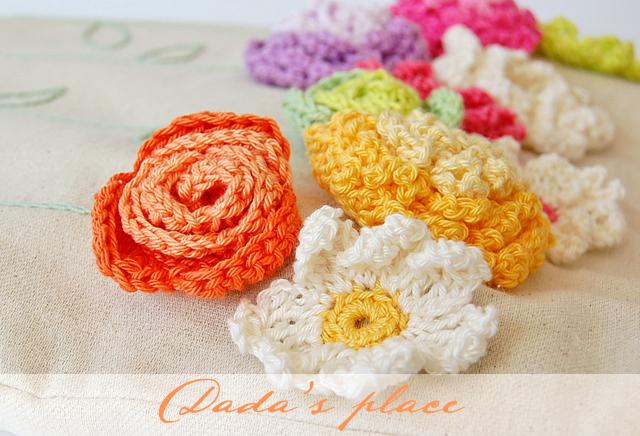Crochet flowers tote bag