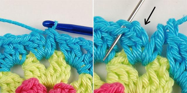 Crochet flowery motif free pattern
