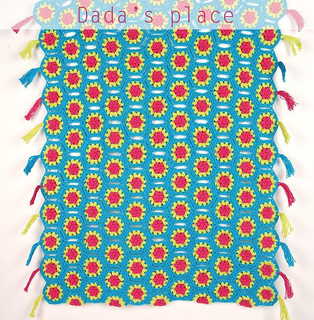 Crochet hexagon blanket free tutorial