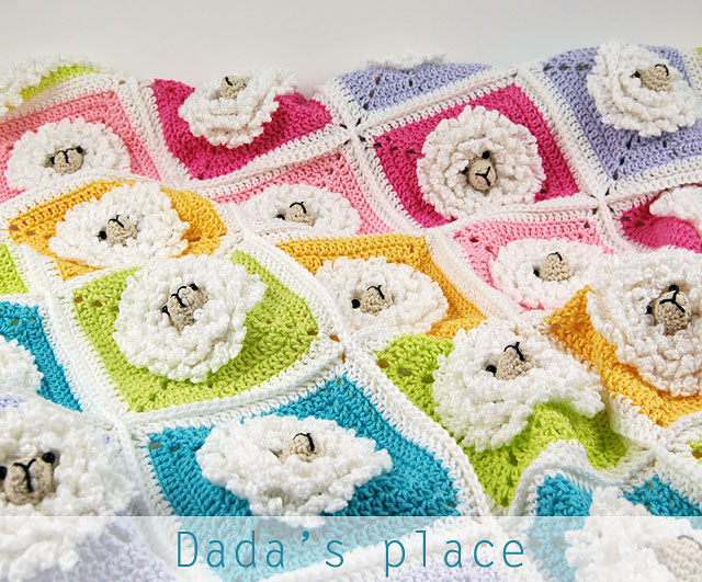 Crochet little sheep baby blanket