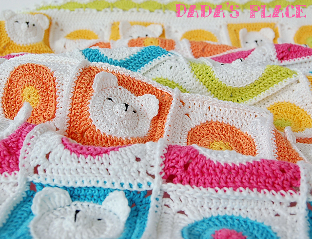 Cute animal crochet baby blanket pattern