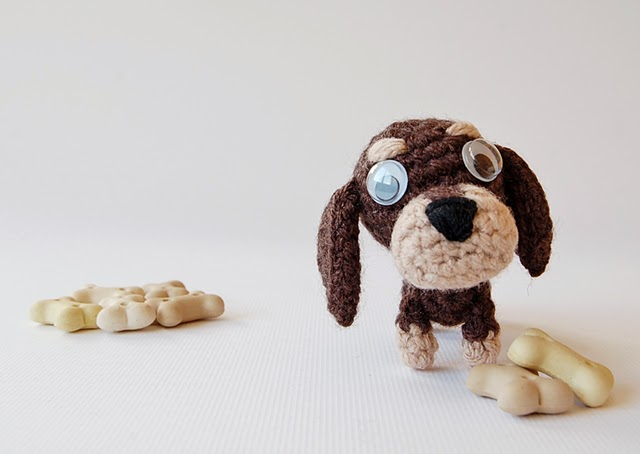 Cute little amigurumi dogs