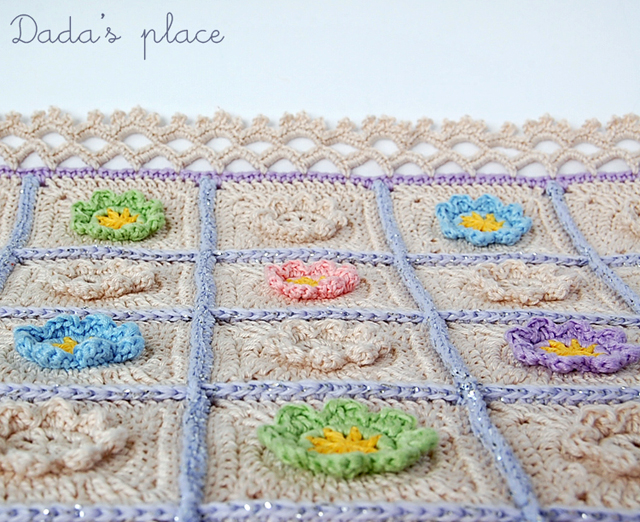 Dadas place beautiful crochet blanket