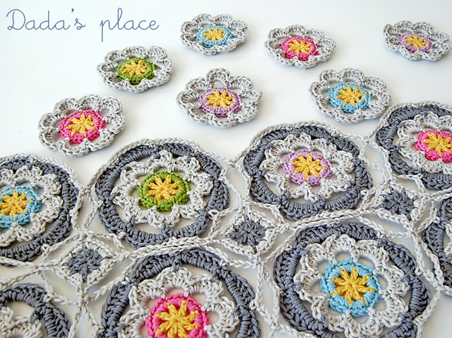 Dadas place beautiful crochet flowers
