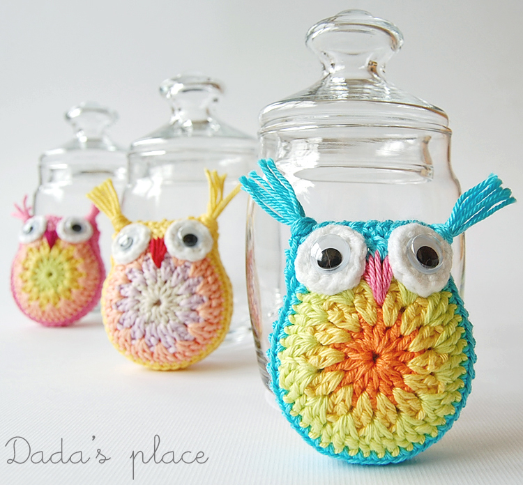 Dadas place crochet owls