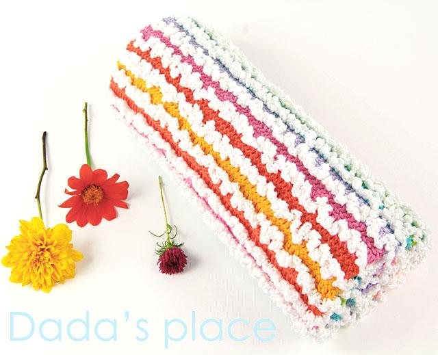 Dadas place crochet ruffle blanket