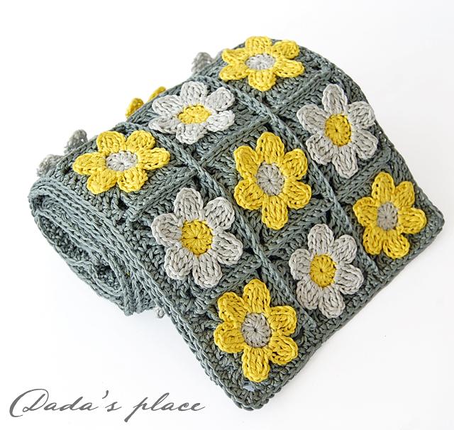 Dadas place crochet scarf pattern