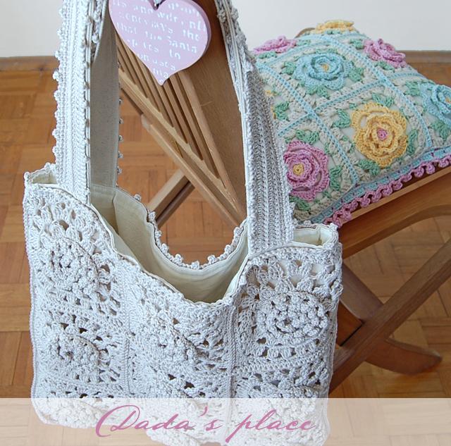 Dadas place crochet tote bag