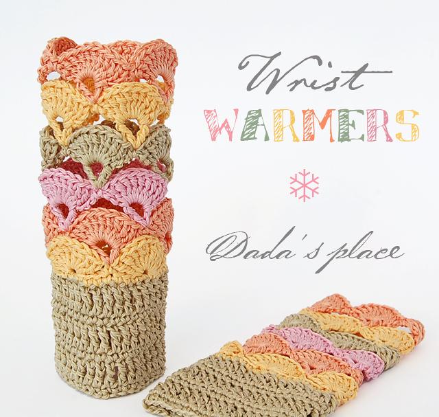 Dadas place crochet wrist warmers