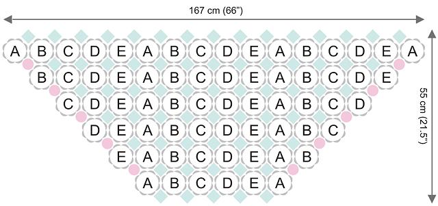 Dadas place free crochet shawl chart
