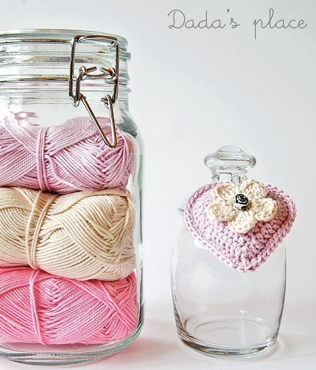 Dadas place yarn crochet heart