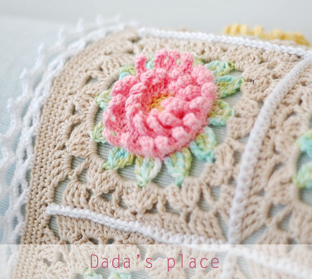 English Garden crochet baby blanket
