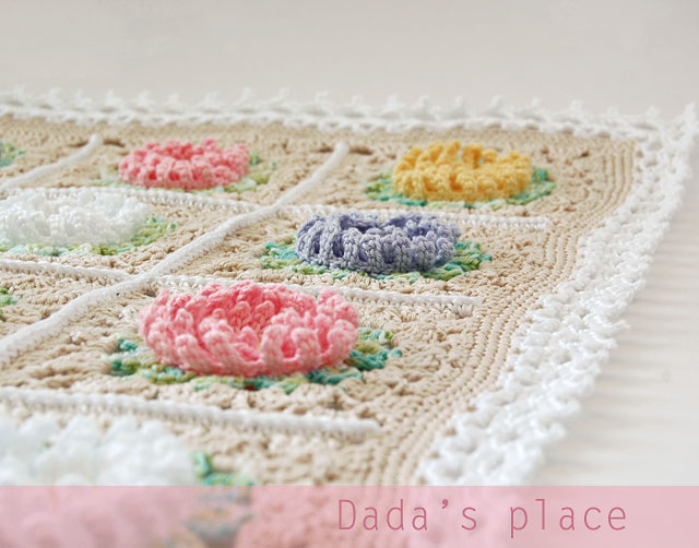 English garden baby blanket border