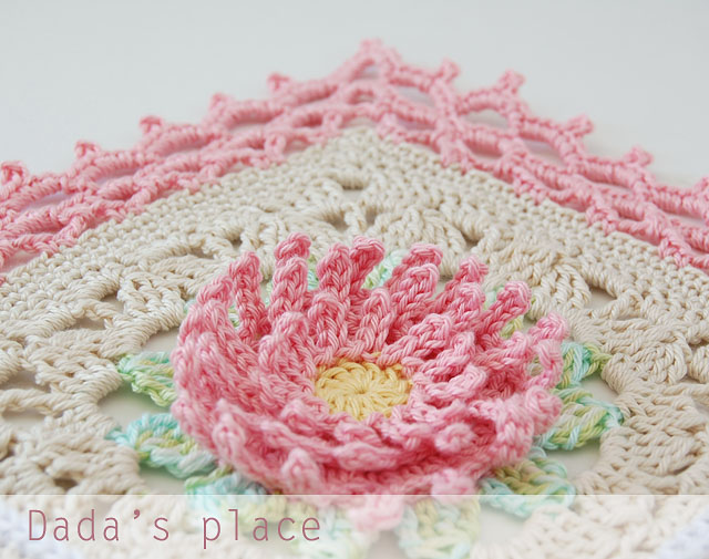 English garden crochet blanket pattern