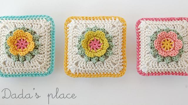 Flowery crochet lavender sachets