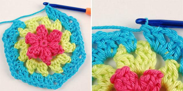 Free chrochet flowery motif pattern