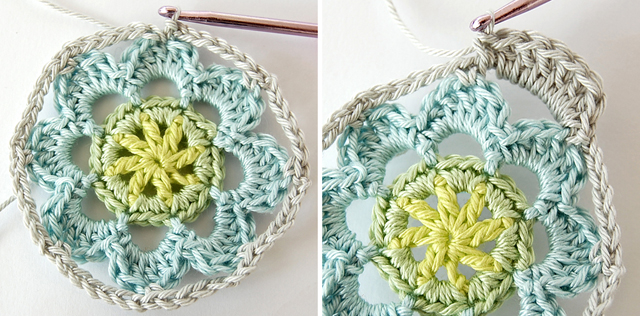 Free crochet flower step by step tutorial