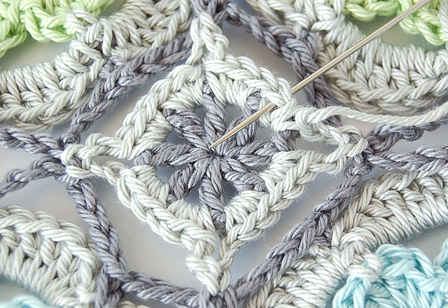 Free crochet motif step by step photo tutorial