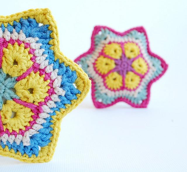 Free pattern crochet african stars