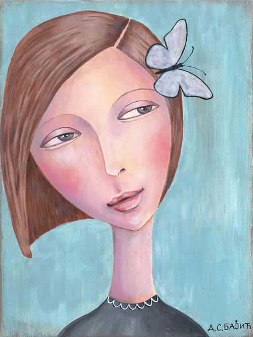 Girl with a butterfly