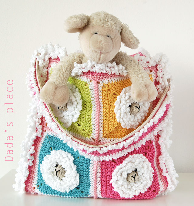 Little Sheep granny square pattern