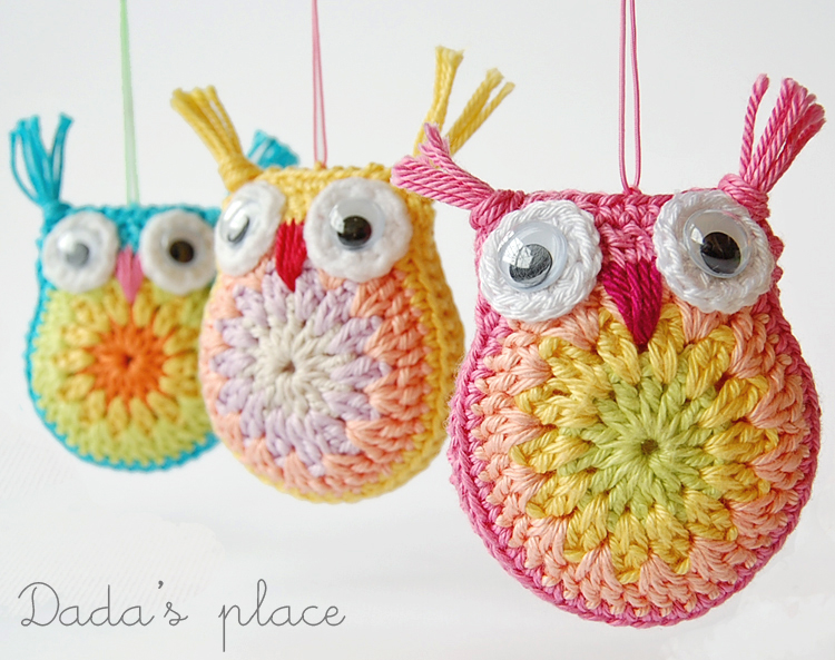 Little crochet owls free pattern