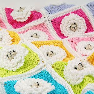 Litte sheep baby blanket